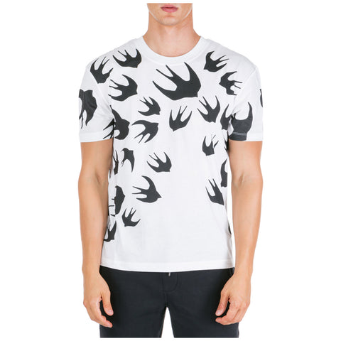 McQ Alexander McQueen Swallows Print T-Shirt