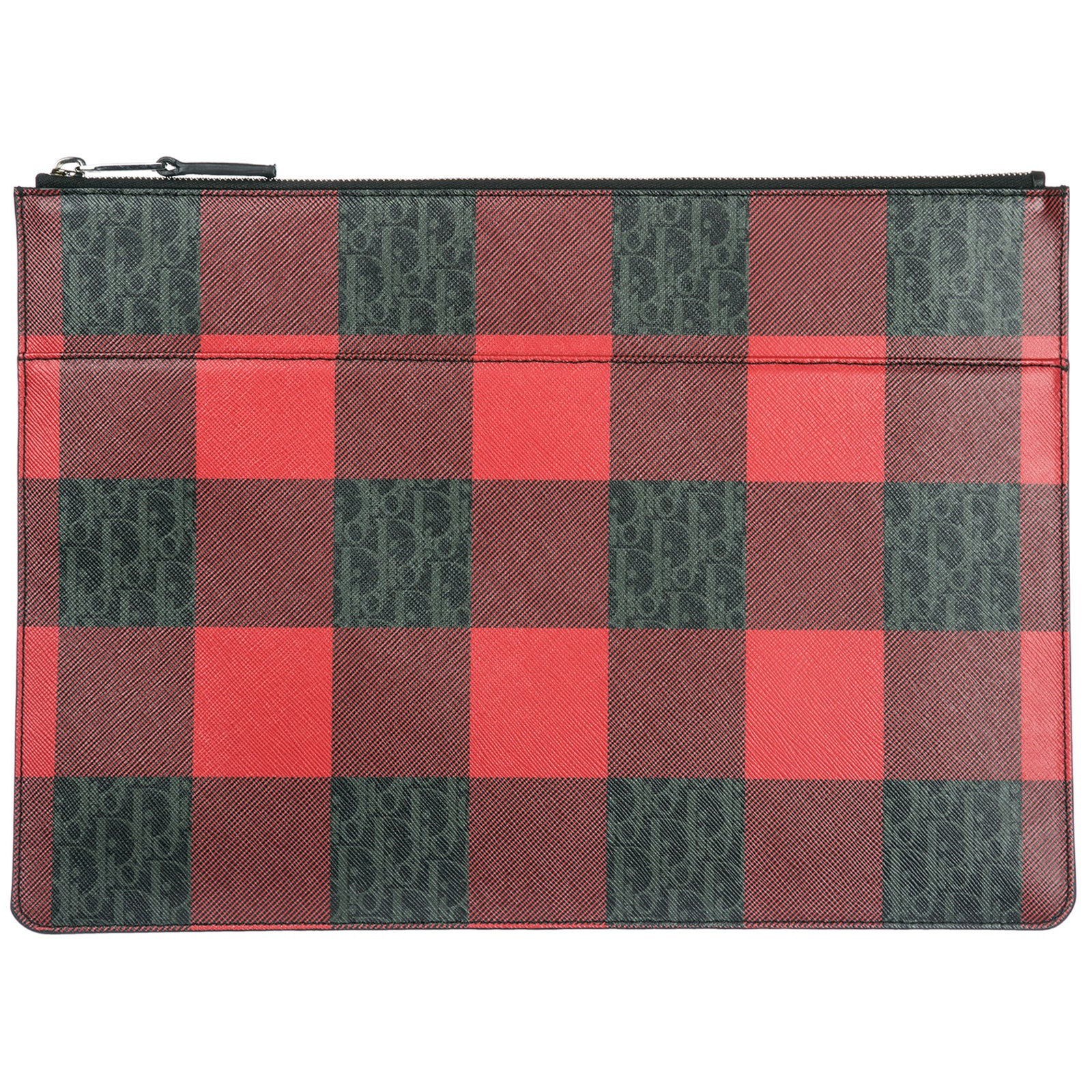DIOR HOMME Dior Homme Checked Clutch Bag, Red