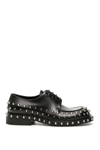 Prada Studded Lace-Up Derby Shoes
