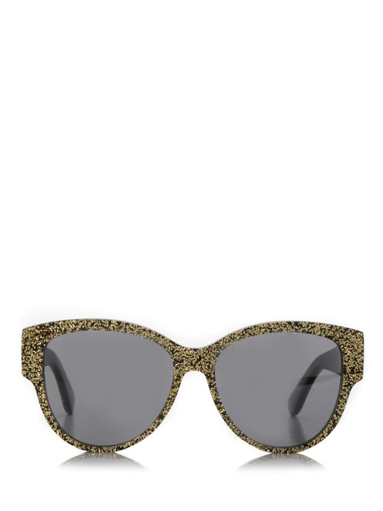 Saint Laurent Monogram M3 Glitter Embelllished Sunglasses