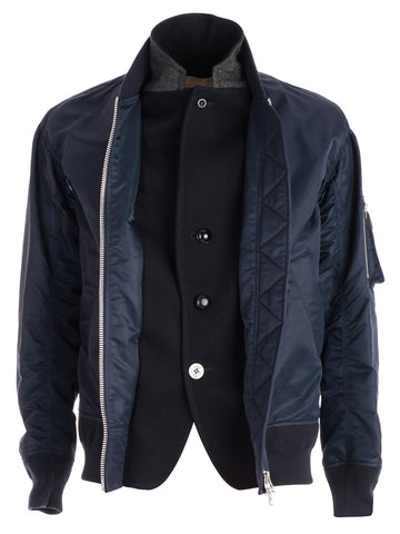 Sacai Zipped Biker Jacket