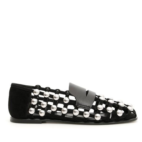 Alexander Wang Studded Slip On Loafers