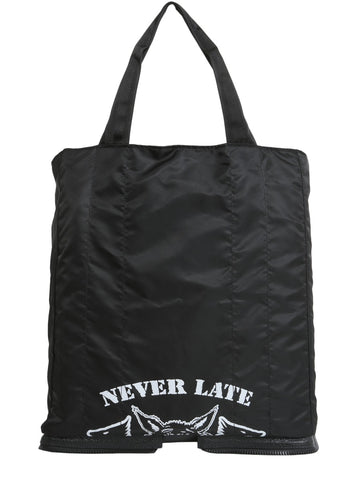 Maison Margiela Never Late Print Shopping Bag