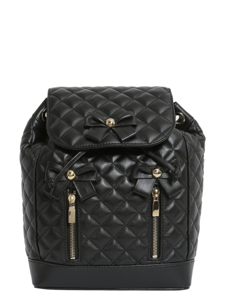 Boutique Moschino Bow Detail Quilted Backpack – Cettire 3516e05f4df22