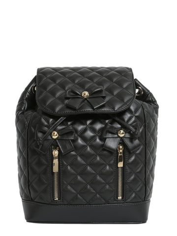 Boutique Moschino Bow Detail Quilted Backpack