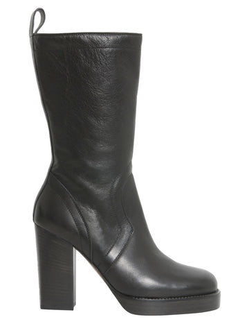 Rick Owens Chunky Heel Ankle-High Boots