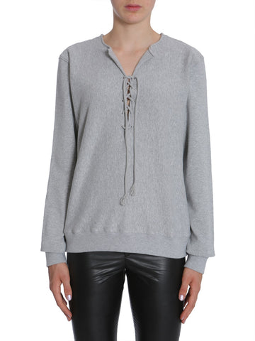 Saint Laurent Lace-Up Sweatshirt