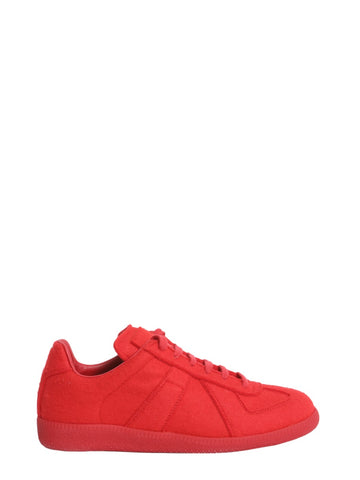 Maison Margiela Lace-Up Low-Top Sneakers