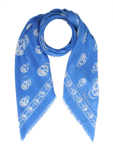 Alexander McQueen Skull All-Over Print Scarf