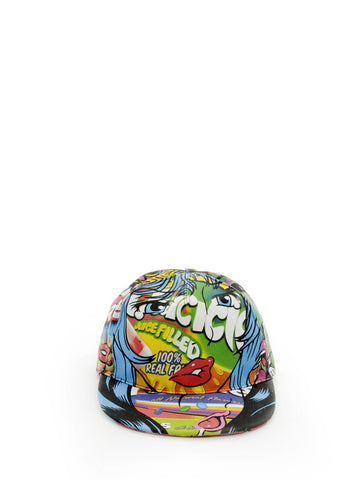 Moschino Graphic Print Cap
