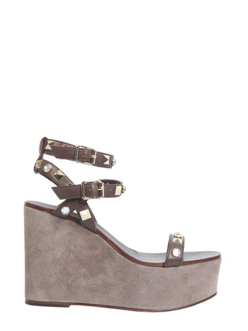 Ash Touch Stud Wedge Sandals