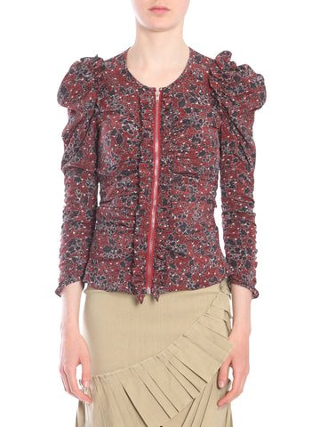 Isabel Marant Bali Floral Puff Sleeve Top