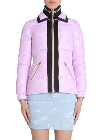 Versace All-Over Logo Collared Jacket