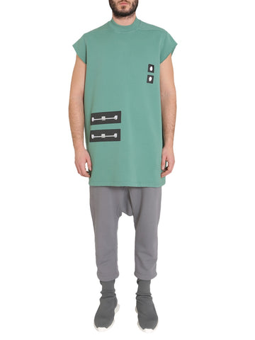 Rick Owens Drkshdw Logo Capped Sleeves Shirt