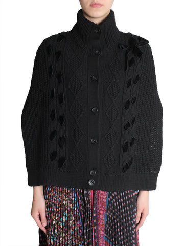 Red Valentino Crotchet Turtleneck Sweater
