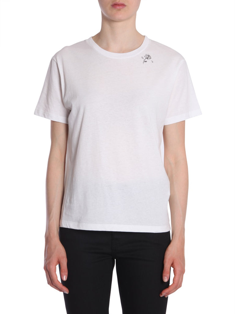 f7b2a469 Saint Laurent Rose Detail T-Shirt – Cettire