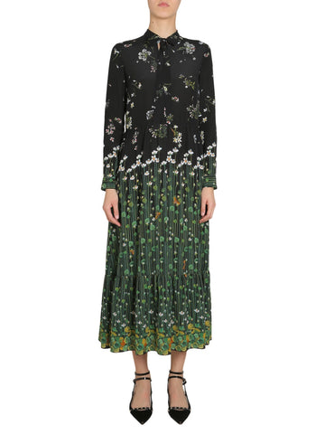 Red Valentino Garden Print Silk Dress