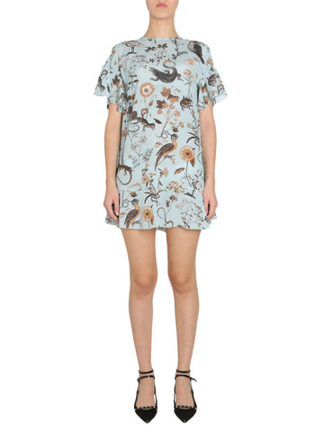 Red Valentino Floral Printed Mini Dress