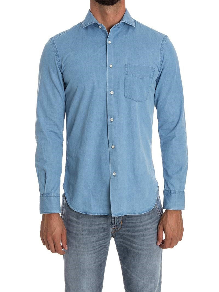 Aspesi Light Wash Denim Shirt
