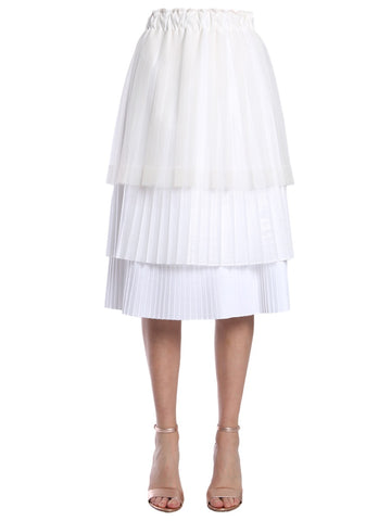 Brunello Cucinelli Pleated Layered Skirt