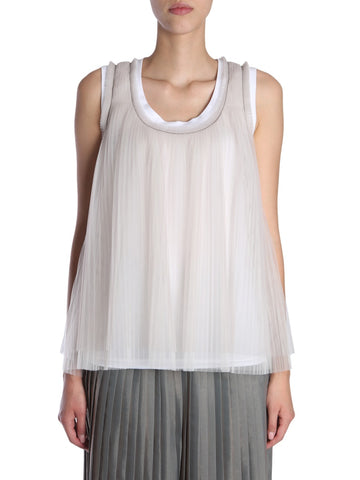 Brunello Cucinelli Pleated Jersey Top
