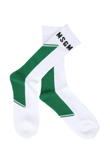 MSGM Logo Stripe Socks