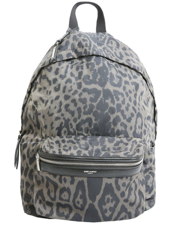 Saint Laurent Foldable City Print Backpack