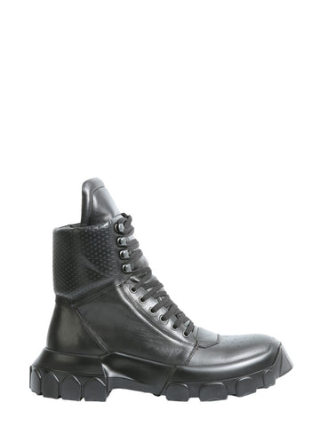 Rick Owens Tractor Dunk Lace-Up Boots