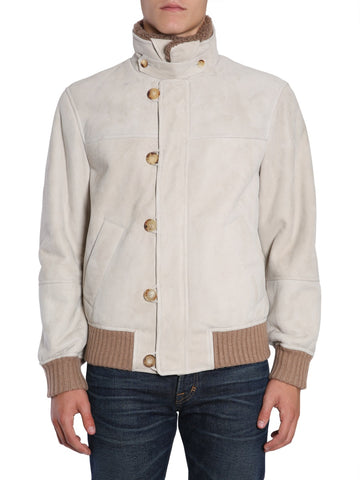 Brunello Cucinelli Shearling Bomber Jacket