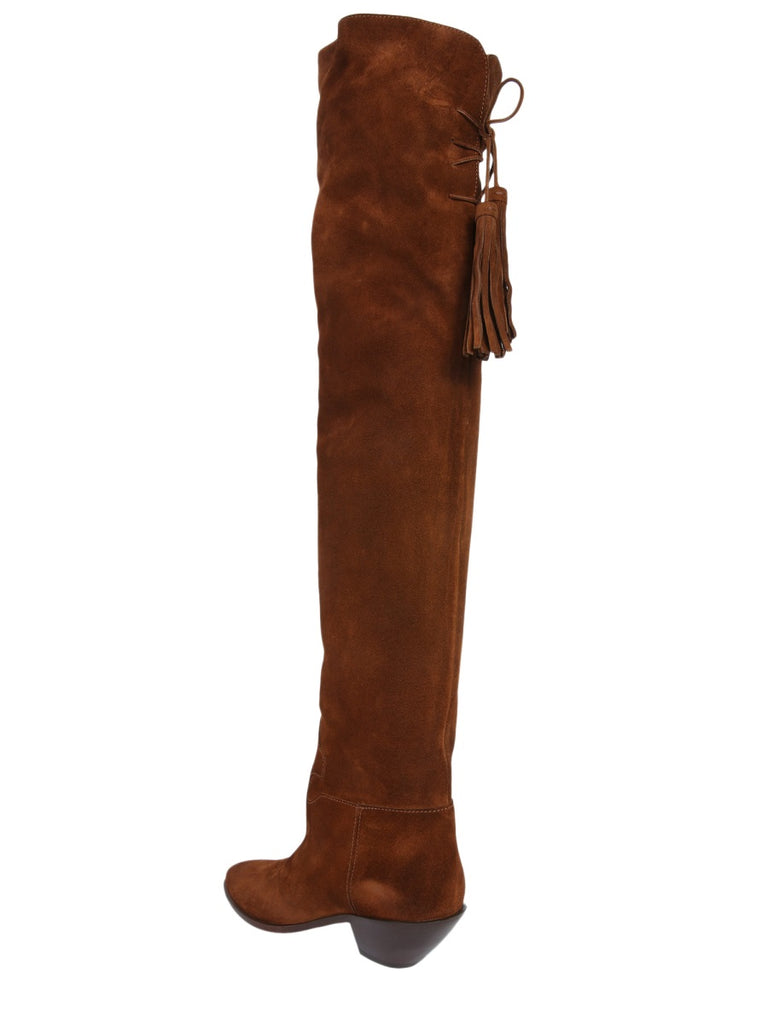 039cd38f01e Saint Laurent Tassels Pointed Knee-High Boots – Cettire