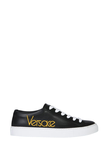 Versace Embroidered Logo Sneakers