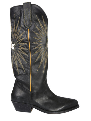 Golden Goose Deluxe Brand Embroidered Knee-Length Boots