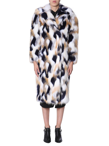 Givenchy Pattern Printed Faux Fur Coat