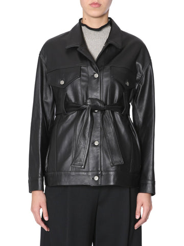 Golden Goose Deluxe Brand Belted Leather Jacket
