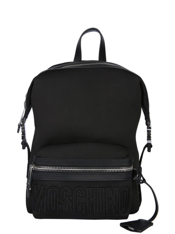 Moschino All-Over Logo Strap Backpack