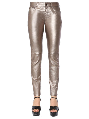 Saint Laurent Skinny Fit Metallic Pants
