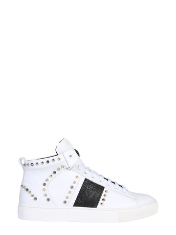 Versace Collection Studded Lace-Up Sneakers