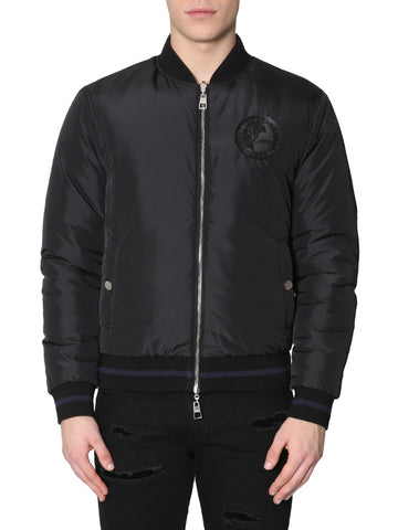Versace Collection Logo Reversible Bomber Jacket