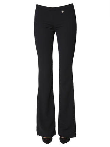 Versace Collection Logo Embroidered Boot-Cut Trousers