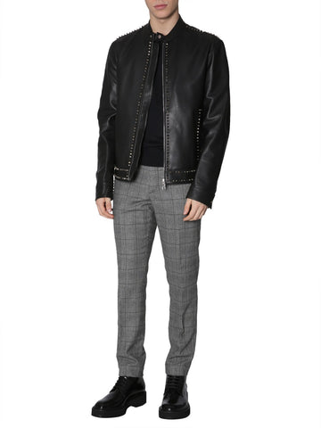Versace Collection Leather Biker Jacket