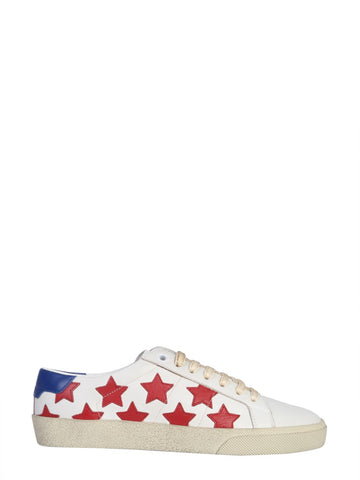 Saint Laurent Stars All-Over Lace-Up Sneakers