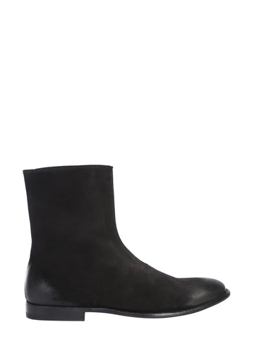 Alexander McQueen Distressed Leather Ankle Boots