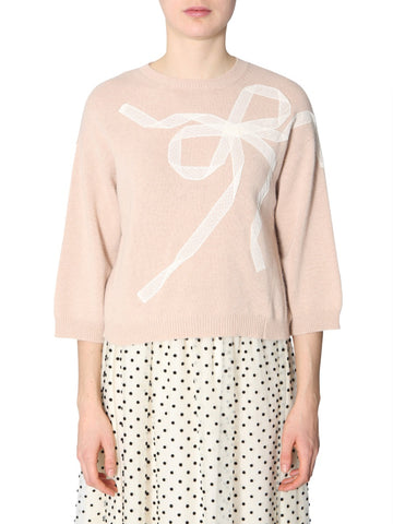 Red Valentino Bow Knit Sweater