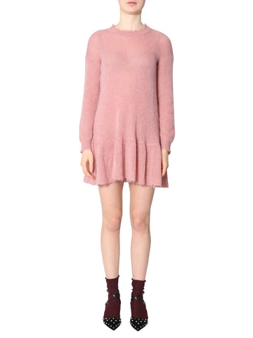 Red Valentino Long Sleeve Mini Dress