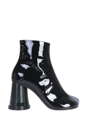 MM6 Maison Margiela Flared Block Heel Ankle Boots
