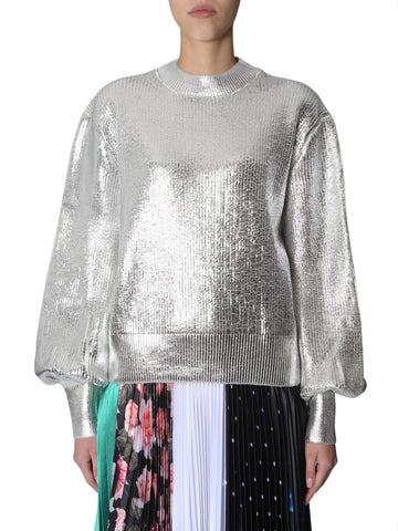MSGM Metallic Laminated Sweater