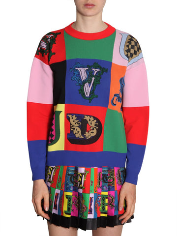 Versace Patchwork Oversized Sweater