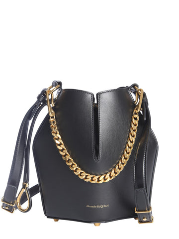 Alexander McQueen Chain Handle Bucket Bag