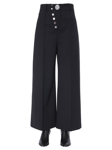 Alexander Wang Button-Up Wide Leg Pants