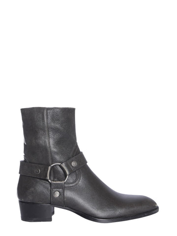 Saint Laurent Buckle Detail Boots